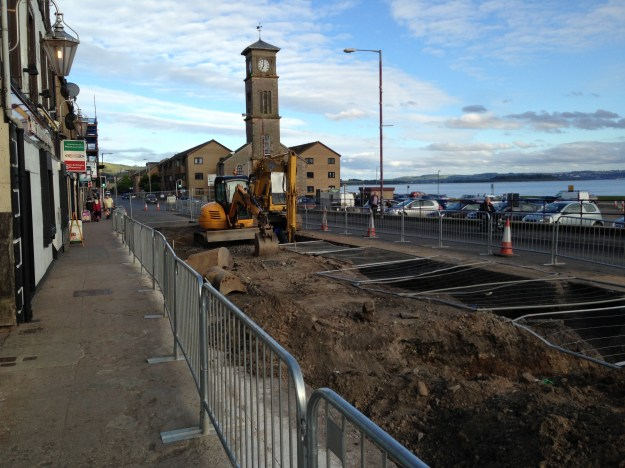 Turned upside down: Helensburgh's seafront is far from appealing for tourists.