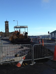 All was quiet in West Clyde Street on Sunday, with no sign of any CHORD workers.