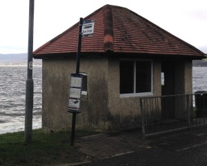 The bus shelter at the bottom of School Road