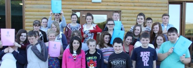 Young grant-makers at a recent training day in Torran Bay, Ford.