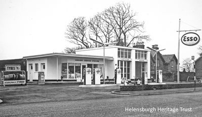 The way it was - the former Esso garage. Picture courtesy of Helensburgh Heritage Trust