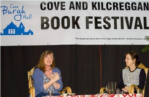 Kirsty Wark in conversation with Janice Galloway at Cove Burgh Hall.
