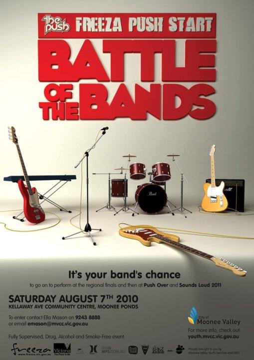 Pushstart Battle Of The Bands Poster Design Digital Lode