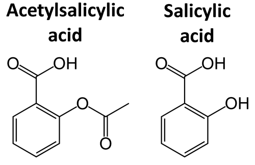small resolution of chemical structure acetylsalicylic acid salicylic acid
