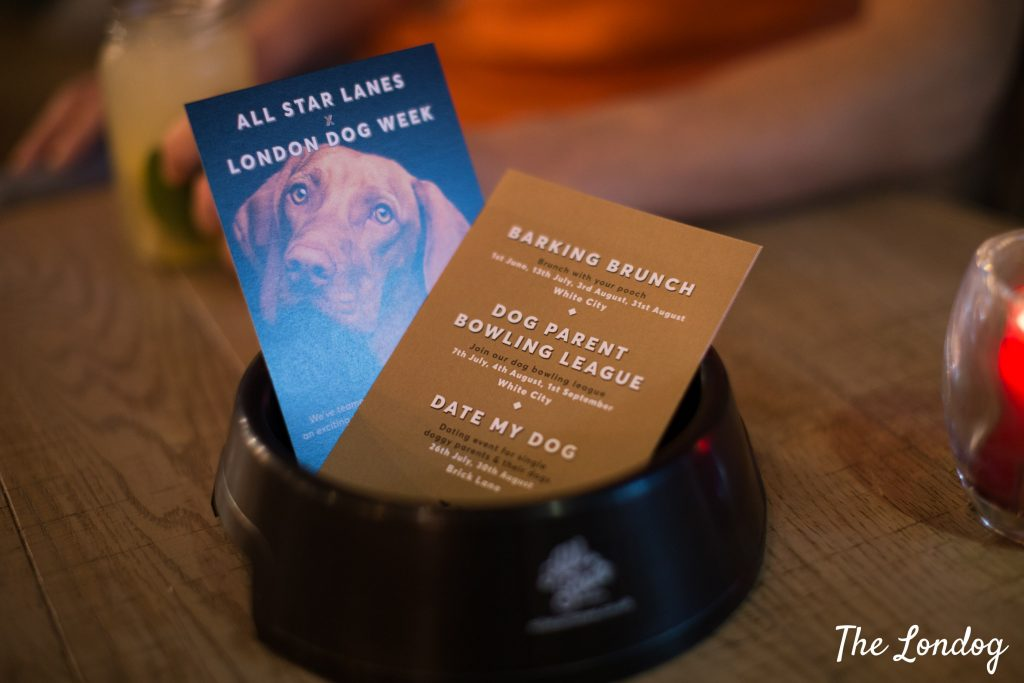 Leaflets of dog-friendly bowling tournament