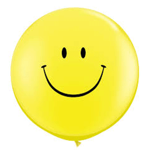smiley face giant balloon