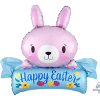 pink banner easter balloon decoration