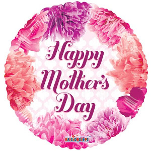 happy mother's day floral balloon