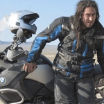 Ross Noble with his motorbike