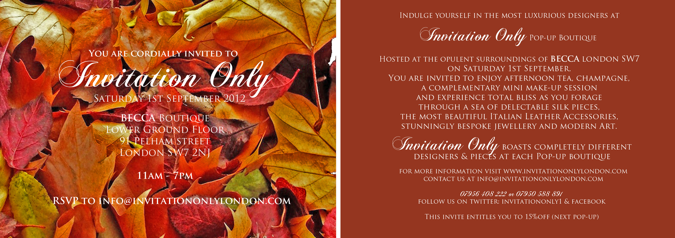 september s invitation only event the