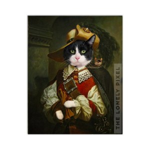 Pirate Cat Print