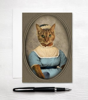 Jane Austen Cat Card