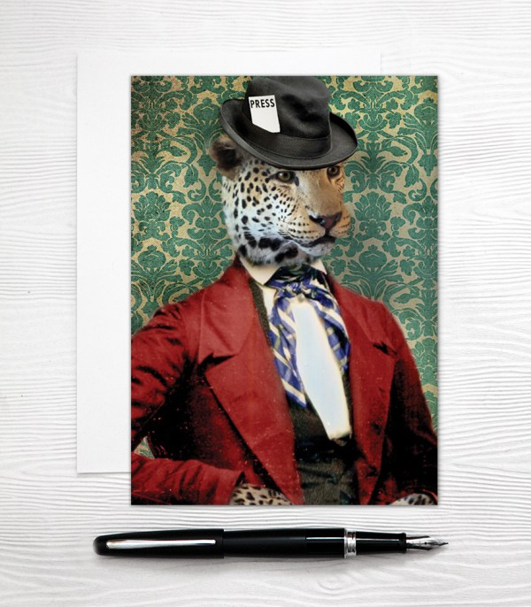 Leopard Cat Card