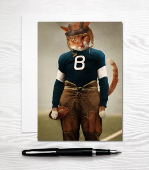 Football Cat Card