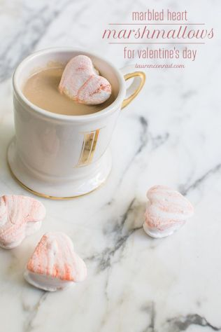 1. Marbled Heart Marshmellows