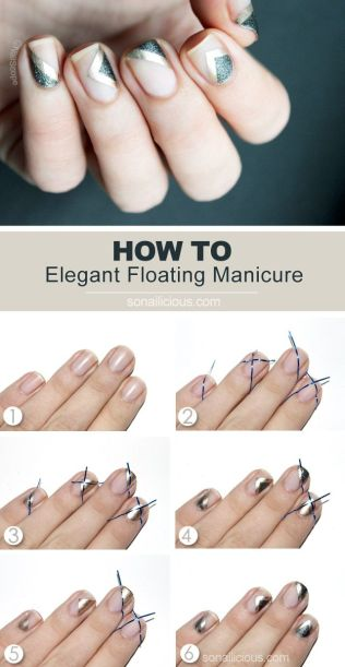 How to do negative space nail art