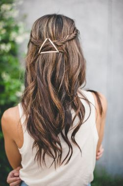 geometric bobby pin hair clip