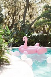 Flamingo inflatable swimming pool