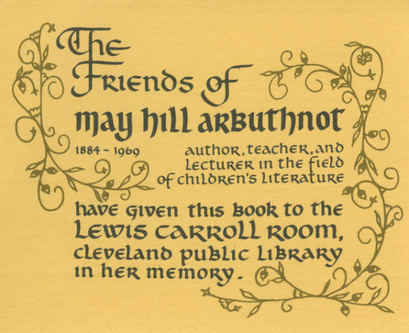 Cleveland Library Lewis Carroll Room Bookplate