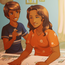 New art: Matías and Estefania