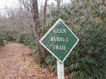 Glen Burney Trail Sign