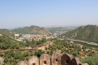 View from Jaighar Fort, the Amber Fort down below