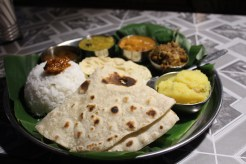 Thali, food enough for 2 and all for 120 rupees (£1.50)