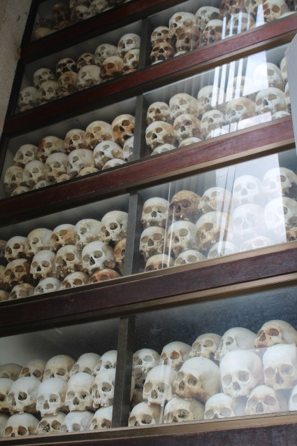 Part of the collect of remains recovered from the Killing Fields