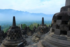 View from the top at Borobudur, Indoesia