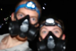 Gas masks were definitely needed for our night hike to the Ijen Plateau