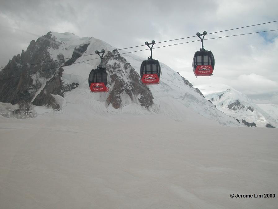 The Panoramic Mont-Blanc Gondola across the Glacier du Géant