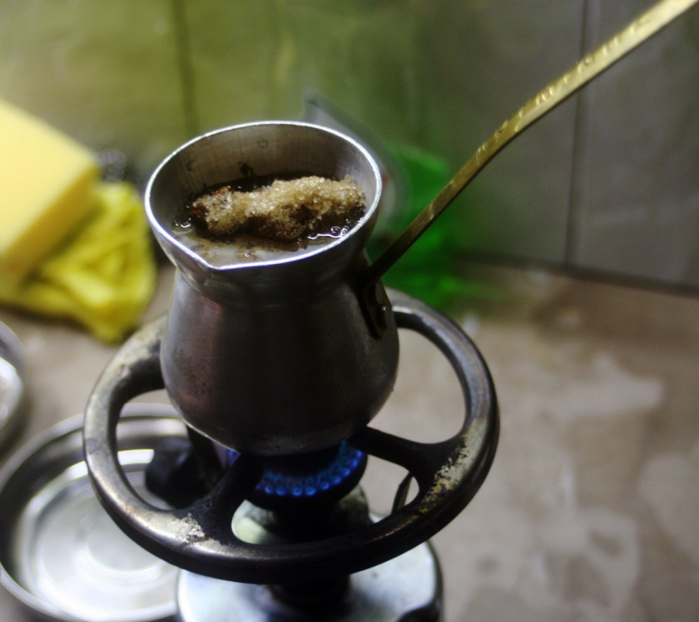 Greek coffee. Step-by-step instruction. (3/6)