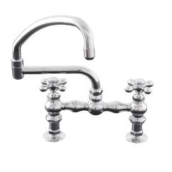 Kitchen Faucet Spout What Is The Best Way To Unclog A Sink Deck Mount With Swivel Pot Filler Canada P0833