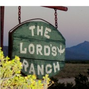 Front gate sign at The Lord's Ranch, Vado, NM