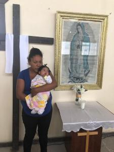 Yadira with baby Guadalupe