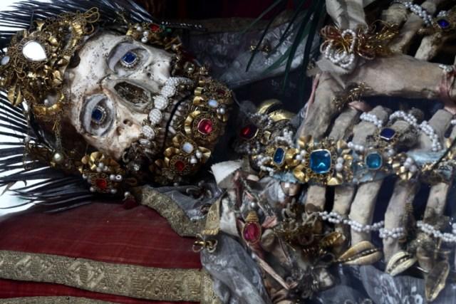 St. Valerius by Paul Koudounaris at La Luz de Jesus Gallery