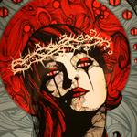 """Repent"" by Kraken 5 color silkscreen print on paper"
