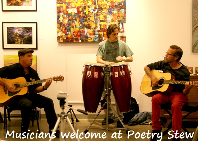 musicians welcome at poetry stew