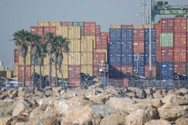 The Port of Long Beach is one of the world's largest shipping ports.