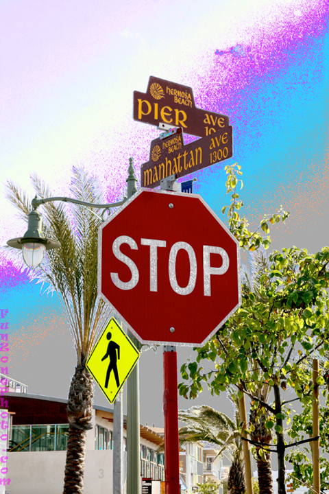 Corner of Pier Ave and Manhattan Ave in Hermosa Beach