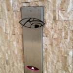 Elevator button to the Observation Deck. (Photo by Nikki Kreuzer)