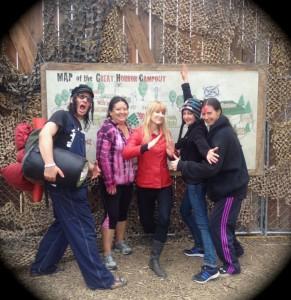 Our group of survivors. From left: Mike, Diane, Nikki (the author), Karin, Megan. (Photo by Nikki Kreuzer)
