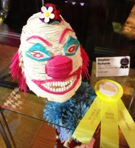 Q-Tip Art: as if clowns aren't frightening enough...  (photo by Nikki Kreuzer)
