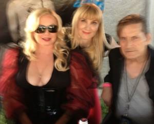 The author posing with Traci Lords and Joe Dallesando (photo courtesy of Nikki Kreuzer)