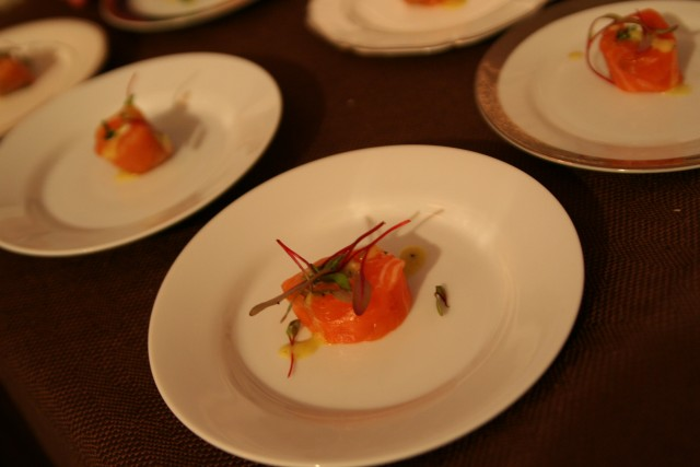 Mark Peel's Salmon from the 2012 LAFW Sunday Grand Tasting (Elise Thompson)