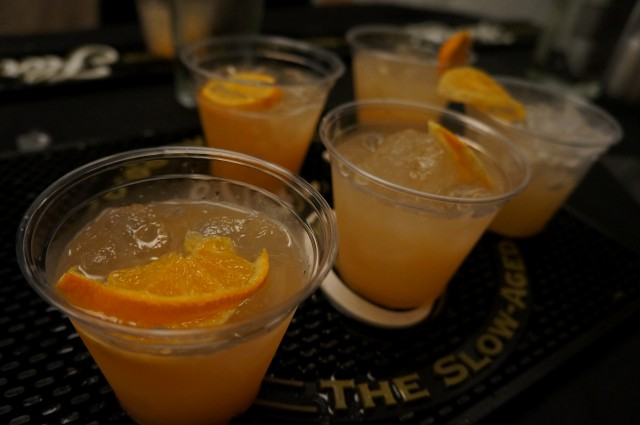 Flor de Cana Macua with guava, orange and lemon juice
