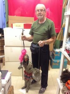 Puppet collector Alan Cook (photo by Nikki Kreuzer)