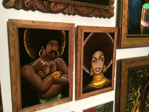 Part of the Black Power wall at Velveteria (photo by Nikki Kreuzer)