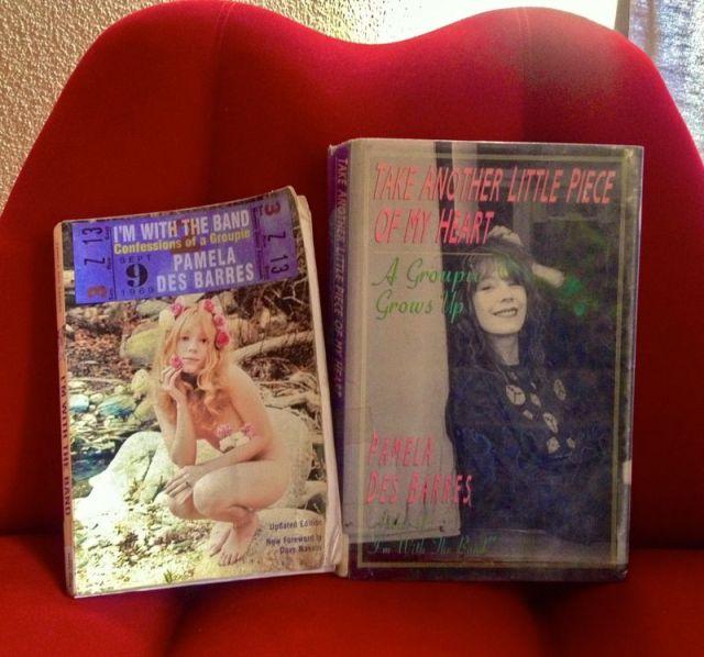 Two of Pamela Des Barres books (photo by Nikki Kreuzer)