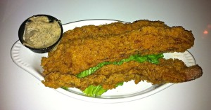 Chicken fried bacon, a porcine delight